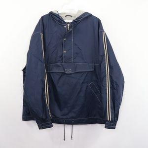 90s GAP Mens Medium Half Zip Anorak Jacket Blue